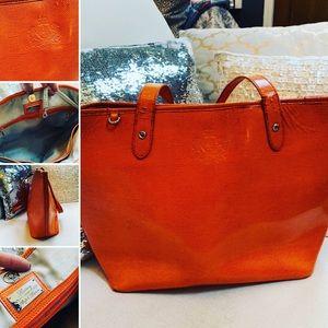 LAUREN by Ralph Lauren Tote Orange Shoulder Bag